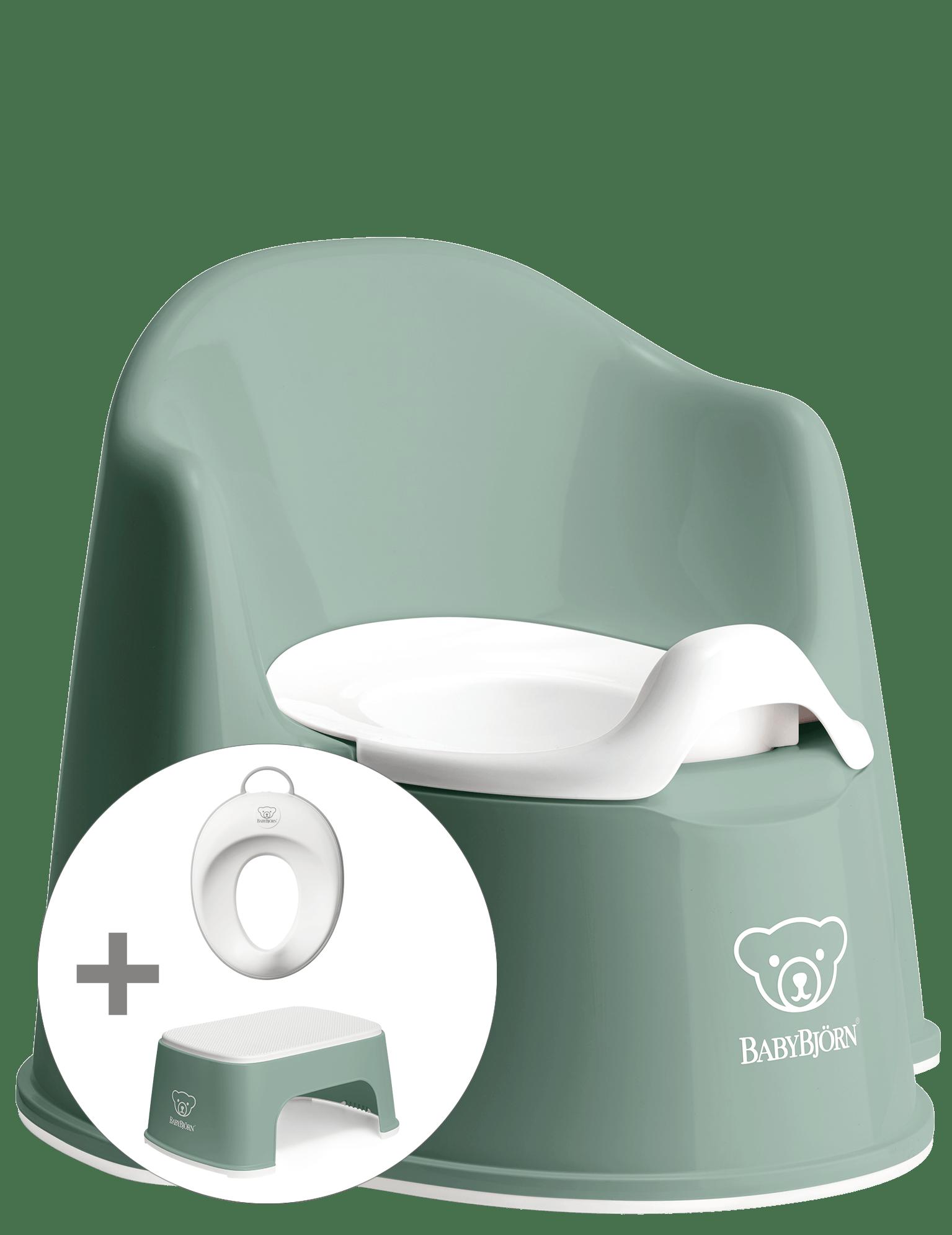BABYBJÖRN Töpfchentraining Startpaket - Graugrün/Weiß