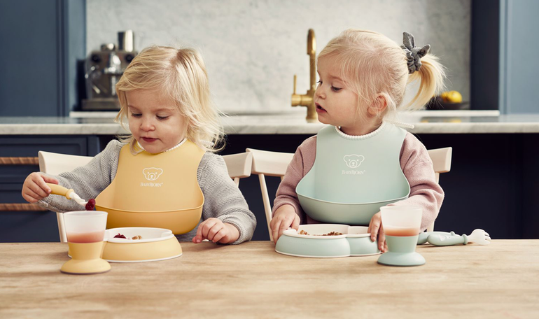 Baby Dinner set in pastel colours from BABYBJÖRN