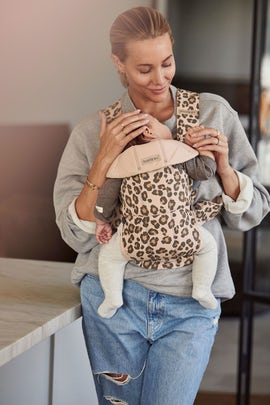 Baby Carrier Mini in Beige/Leopard Cotton - BABYBJÖRN