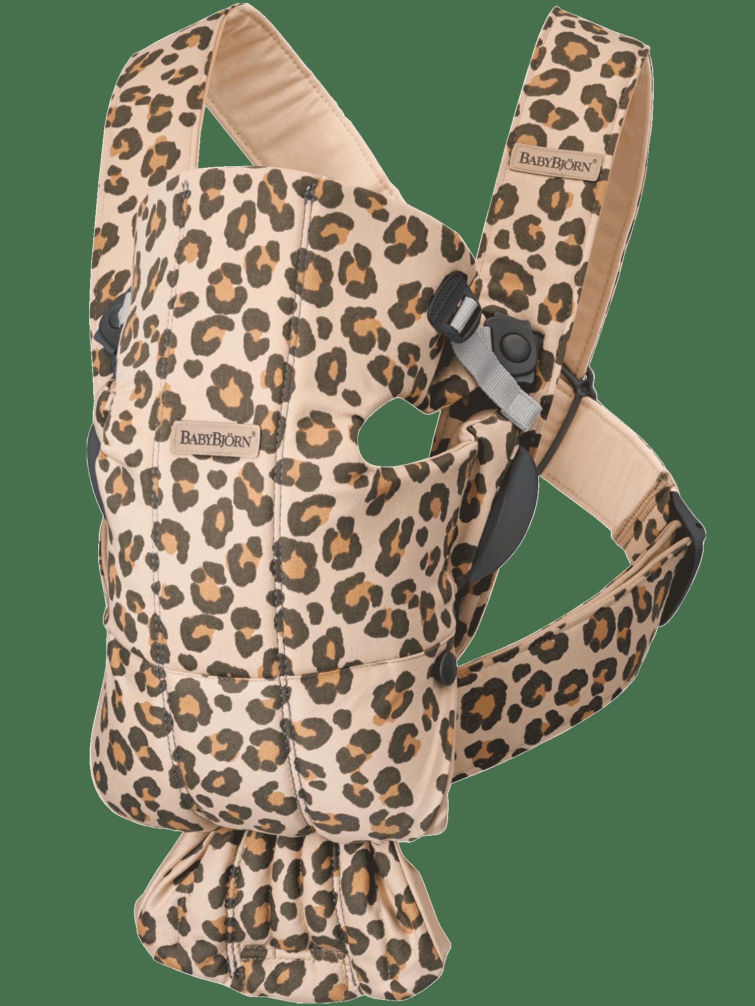 BABYBJÖRN Babytrage Mini - Beige/Leopard, Baumwolle