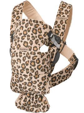 Babytrage Mini in Beige/Leopard Cotton - BABYBJÖRN