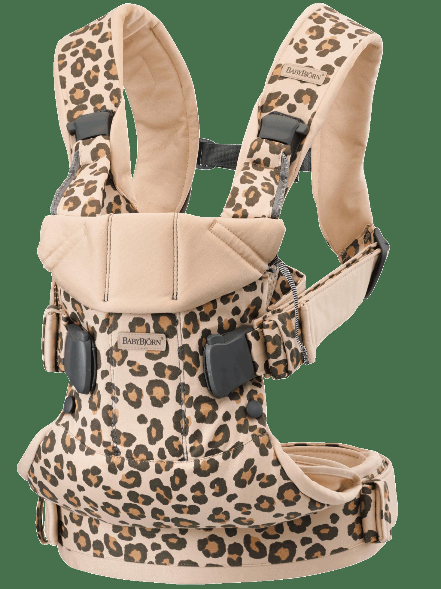 BABYBJÖRN Babytrage One - Beige/Leopard, Baumwolle