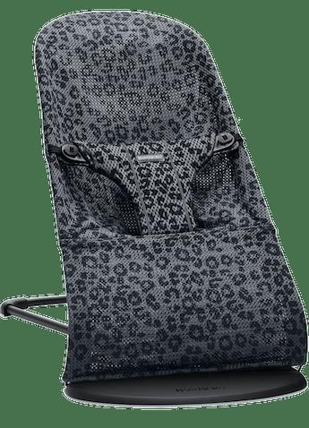 Babywippe Bliss in Anthrazitgrau Leopard mesh - BABYBJÖRN