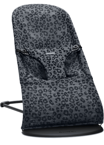 Bouncer Bliss in Anthracite/Leopard Mesh - BABYBJÖRN