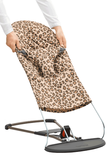 Fabric Seat for Bouncer Bliss in Beige/Leopard Cotton