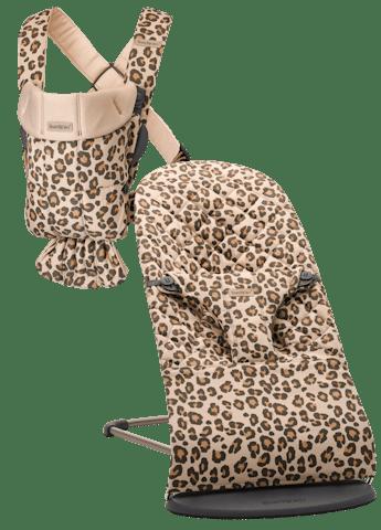 Hamaca Bliss Beige Leopardo Cotton y Mochila Porta Bebé Mini Beige/Leo - BABYBJÖRN