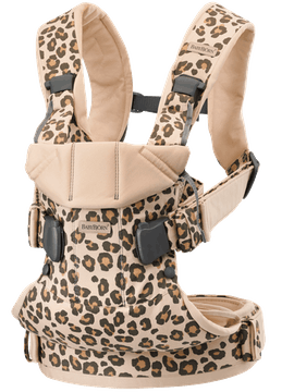 Marsupio One Beige/Leopardo Cotton - BABYBJÖRN