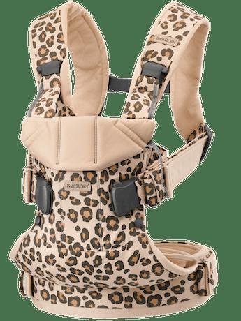 Marsupio One Beige/Leopardo Cotton - BABYBJÖRN