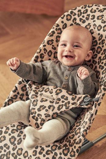 Sdraietta Bliss Beige/Leopardo Cotton - BABYBJÖRN