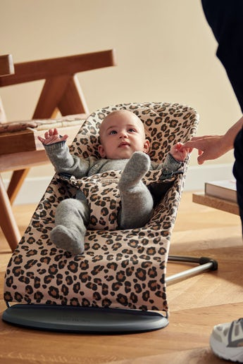 Sdraietta Bliss Beige/Leopardo Cotton - BABYBJÖRN