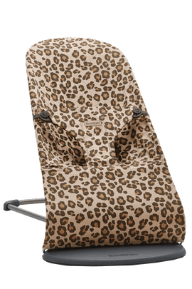 Bouncer Bliss in Beige Leopard Cotton