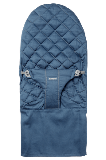 Fabric Seat for bouncer Bliss in Midnight blue soft quilted cotton - BABYBJÖRN
