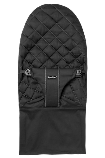 Fabric Seat for bouncer Bliss in Black soft quilted cotton - BABYBJÖRN