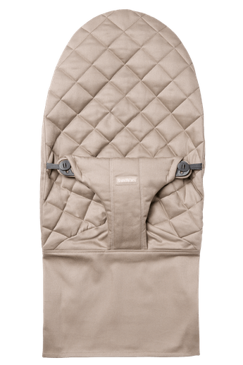 Fabric Seat for bouncer Bliss in Sand grey soft quilted cotton - BABYBJÖRN