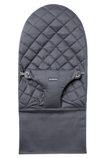 Fabric Seat for bouncer Bliss in Anthracite soft quilted cotton - BABYBJÖRN