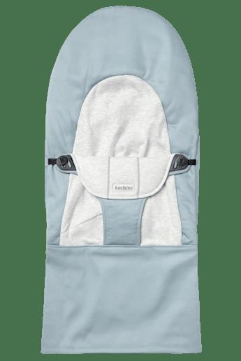 Fabric Seat for Bouncer Balance Soft Blue Grey Cotton Jersey - BABYBJÖRN