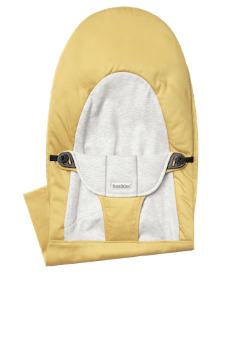 Fabric Seat for Bouncer Balance Soft Yellow Grey Cotton Jersey - BABYBJÖRN