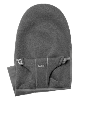 Extra Fabric Seat for Bouncer Bliss in Charcoal grey supersoft 3D Jersey - BABYBJÖRN