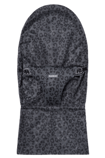 Fabric Seat for bouncer Bliss in Anthracite Leopard soft and airy mesh - BABYBJÖRN