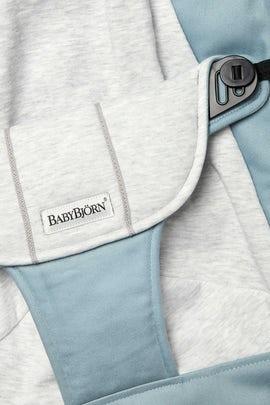 Sedile in Tessuto per Sdraietta Balance Soft Blu/Grigio Cotton Jersey - BABYBJÖRN