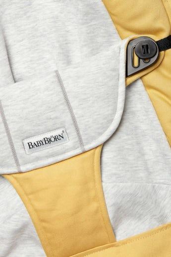 Sedile in Tessuto per Sdraietta Balance Soft Giallo/Grigio Cotton Jersey - BABYBJÖRN