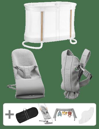 Starter kit Premium per neonati Grigio Chiaro 3D Jersey - BABYBJÖRN