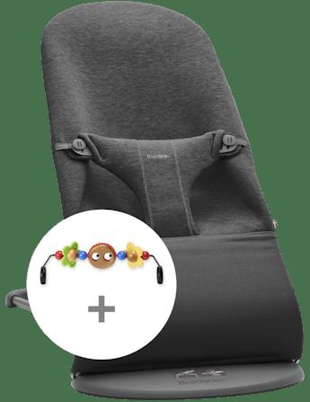 Kit Sdraietta Grigio Carbone 3D Jersey con Giochi Occhietti Vispi - BABYBJÖRN