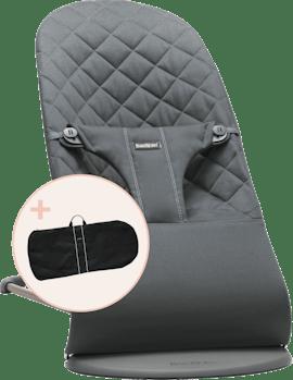 Babysitter Bliss i Antracitgrå Cotton med transportväska - BABYBJÖRN