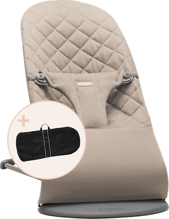 Bouncer Bundle Bliss Sand Grey with Transport Bag - BABYBJÖRN