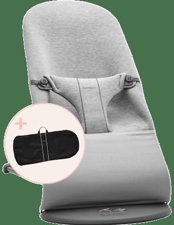 Transat Bliss avec Sac de Transport Gris clair 3D Jersey - BABYBJÖRN