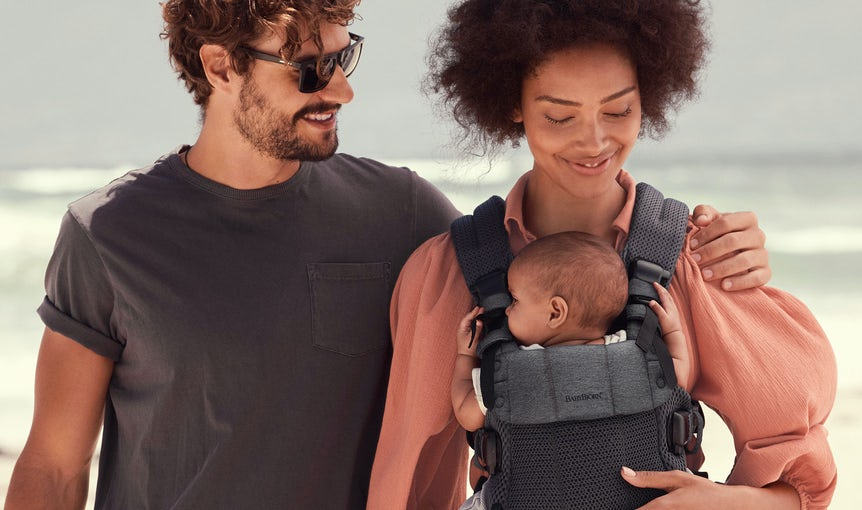 Baby Carrier Harmony in soft and airy 3D Mesh - 4 carrying positions incl back carrying
