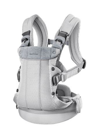 Baby Carrier Harmony Silver 3D Mesh with padded back support and an ergonomic design