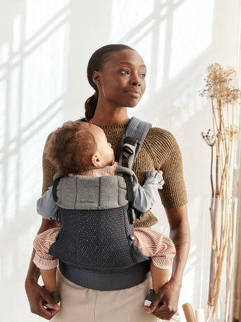 Baby Carrier Harmony in Anthracite 3D Mesh with padded back support and an ergonomic design.