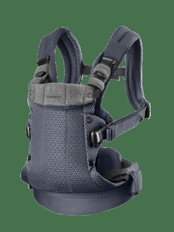 Bärsele Harmony i Antracitgrå 3D Mesh med 4 bärsätt inkl ryggbärande