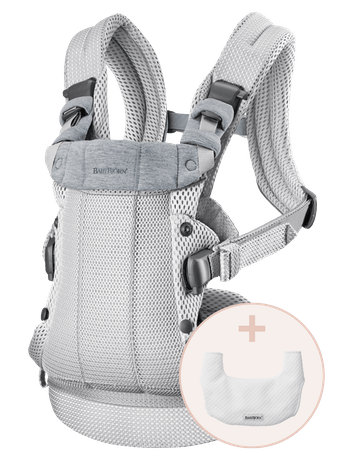 Baby Carrier Harmony Silver 3D Mesh with bib - BABYBJÖRN