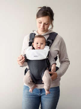 Bib for Baby Carrier Harmony White in soft Tencel