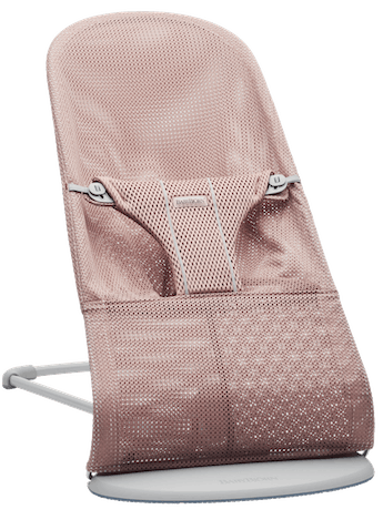 Bouncer Bliss in Dusty Pink Mesh - cool and airy fabric that dries quickly