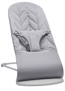 Bouncer Bliss in Light grey Cotton Petal Quilt