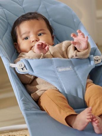 babywippe bliss Blau, Baumwolle, Blütenblatt-Steppung