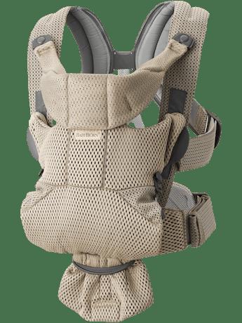Porte-bébé Move Gris Beige Mesh 3D. Un porte-bébé agréable et facile à porter pour simplifier une vie active.