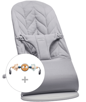Bouncer Bliss Light grey Cotton Petal Quilt with toy Googly Eyes pastel bundle