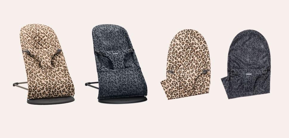 Babysitter Bliss i leopard mönster och antracitgrå leo