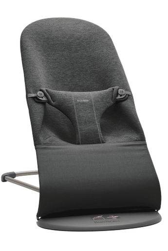 Bouncer Bliss in Charcoal grey soft and cozy 3D Jersey with natural rocking without batteries