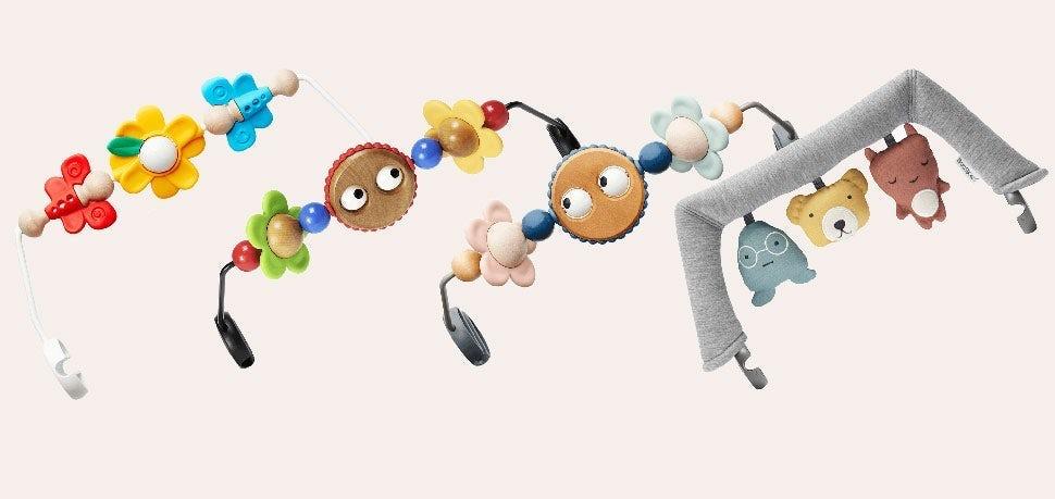 Unsere Spielzeugbügel - für die Babywippe