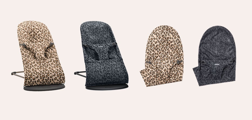 Bouncers with prints, Leo and Anthracite/Leopard
