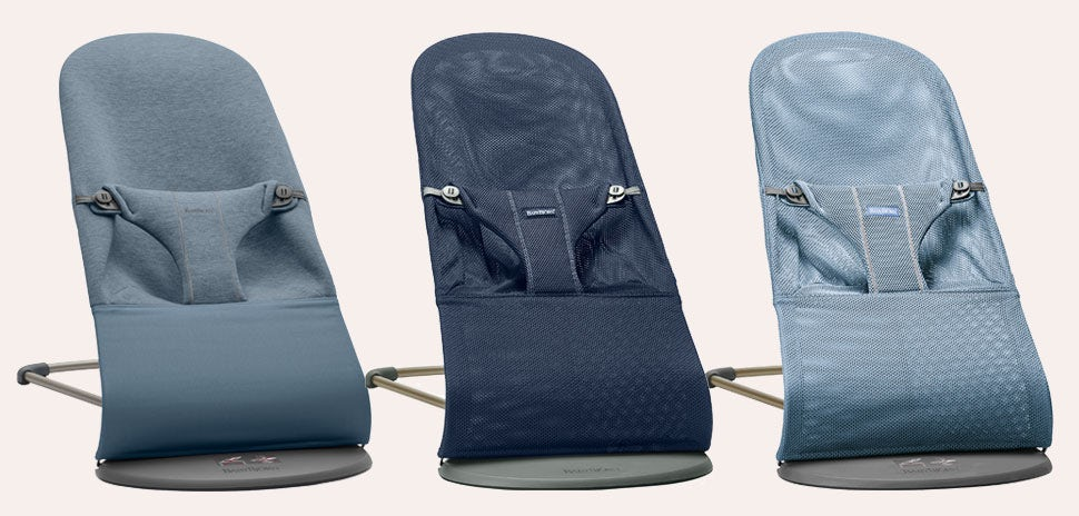 Bouncers in blue tones - help decide with the bouncer guide from BABYBJÖRN