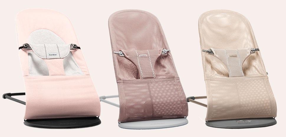 Bouncers in pink tones
