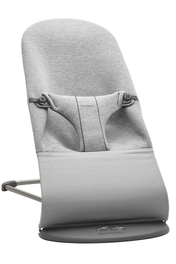 Bouncer Bliss in Light grey soft and cozy 3D Jersey with natural rocking without batteries