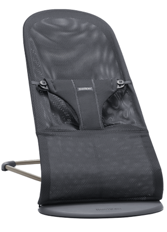 Bouncer Bliss in Anthracite soft and airy Mesh with natural rocking without batteries